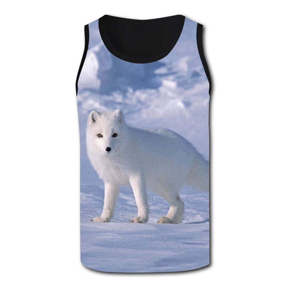 Arctic Fox Mens Tank Top Vest Shirts Singlet Tank Tops Sleeveless Underwaist for Swimming