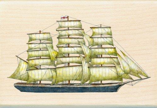 Inkadinkado Tim Coffey Wood Stamp, Tall Ship by Inkadinkado