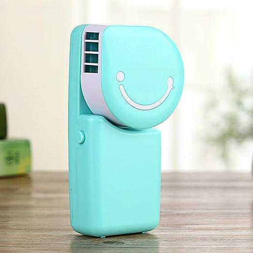 Wenore Smiley Handheld Mini Fan, Aire Acondicionado Ventilador ...