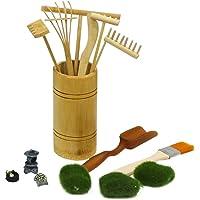 BangBangDa Mini Zen Garden Rake Tabletop Rock Garden Tools Mini Kits for Sandbox Rake Set F White