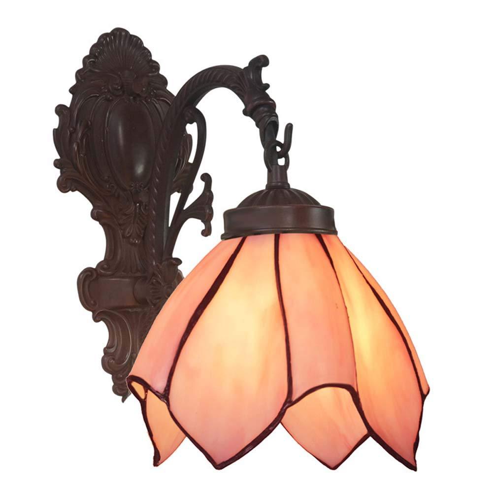 ティファニースタイルウォールライト、亜鉛合金ベースの8インチステンドグラスウォールランプ、寝室のベッドサイドランプの通路バルコニーアー B07SLJZBCW  4