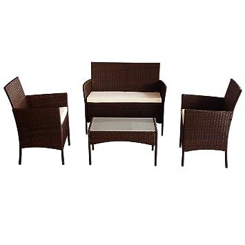 Rattan Garden Furniture Set Patio Conservatory Indoor Outdoor 4 ...