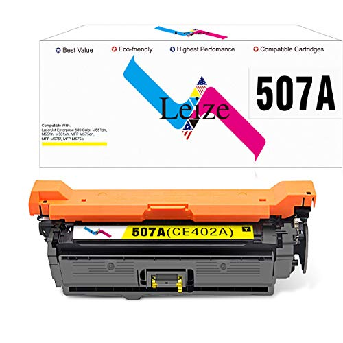Leize Compatible Toner Cartridge Replacement for HP 507A 507X CE402A CE402X Yellow Toner Cartridge for HP Laserjet Enterprise 500 Color M551dn M551n M551xh MFP M575dn M575f M575c Printer Ink ()