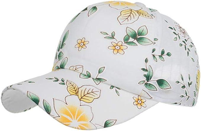 LOPILY Gorras Clásico Estampado de Flores Gorra de béisbol de ...