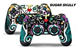 247Skins Dual Skin Sticker Wraps 2 Pack PS4 Playstation 4 Remote Controller Decals SKULLY For Sale