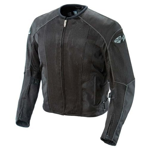 Leather And Mesh Motorcycle Jacket - 6