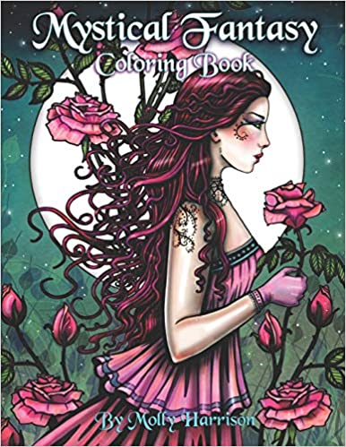 Mystical Fantasy Coloring Book: Coloring for Adults ...