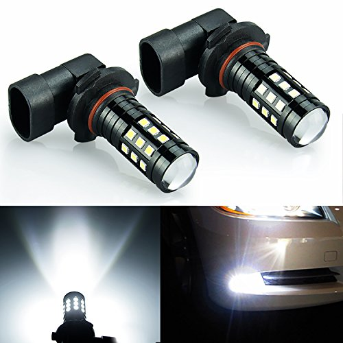 JDM ASTAR 1200 Lumens Extremely Bright 2828 Chipsets H10 91450 9140 LED Bulbs for DRL or Fog Lights, Xenon White (H10 9145 9140)