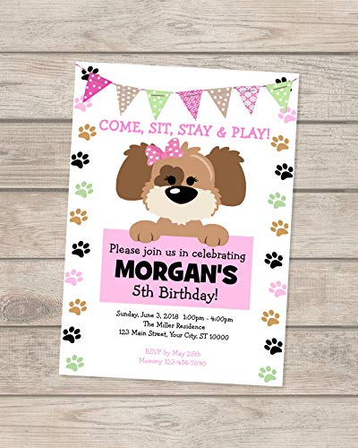 Amazon Girl Puppy Invitation Dog Birthday