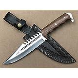 """ASH HKA720W CUSTOM HANDMADE HUNTING TRACKER KNIFE 440C STEEL 12"""""""