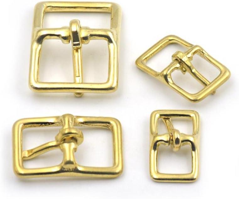 2 Pcs Bridle Middle Bar Buckle Roller Bar Belt Strap Purpose Solid Brass Width 13mm