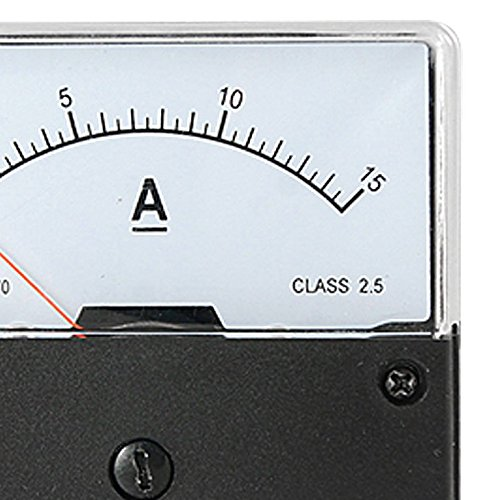 Andifany DC 0-15A Rango de corriente Medidor de amperios de montaje en panel Medidor