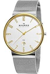 Skagen Men's C355XLSSG Steel Silver Dial Mesh Bracelet Watch
