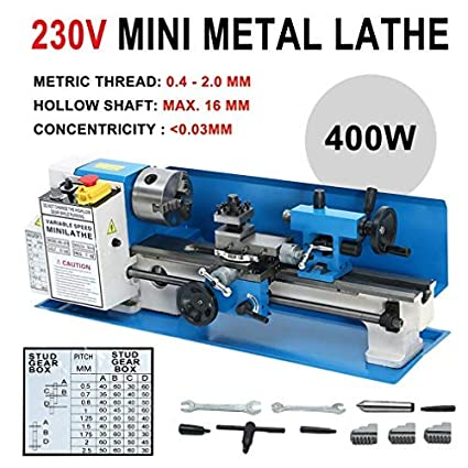 hehi Lark 7 x 14 motorizado Mini metal Torno estacionario drehmaschinen fresado Torno DIY Herramientas metal