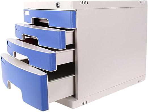 Gabinete de Archivos con Cerradura Caja de Almacenamiento de Documentos de la Oficina en el hogar Gabinete de Archivo del cajón de Almacenamiento de Datos de 4 Capas YHH: Amazon.es: Hogar