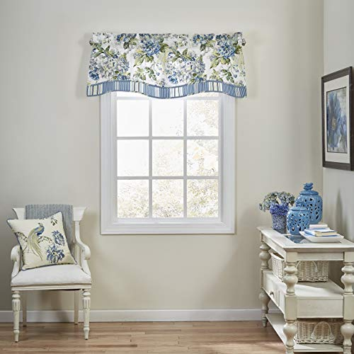 WAVERLY Floral Engagement Window Valance 52 x 18 Porcelain (Renewed)
