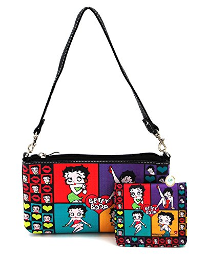 Betty Boop Small Handbag and Wallet Set (Colorful Collage)