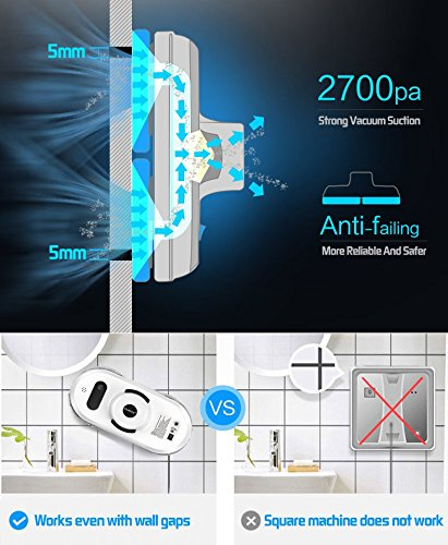 Judixy Window Cleaner Robot, Ultra-Fast Cleaning Speed for Inside and Outdoor by JUDIXY (Image #3)