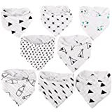UINSTONE Baby Bibs #8 count #unisex #100% Organic Cotton #PERFECT for Drooling and Teething issues