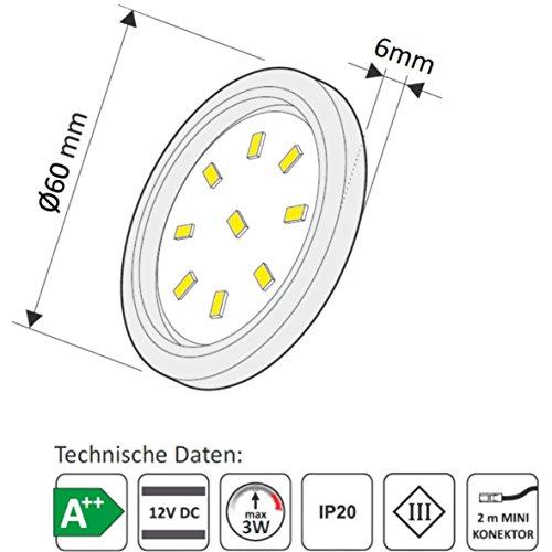 pour meuble led slim xl cuisine encastrable intensit variable avec lampe projecteur plat moderne blanc chaud amazonfr luminaires et eclairage