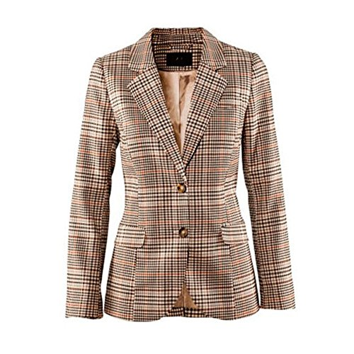My Wonderful World Blazer Coat Jacket Mww Women Long Sleeves OL Business Plaid Formal Blazer US 6 by My Wonderful World Blazer Coat Jacket (Image #2)