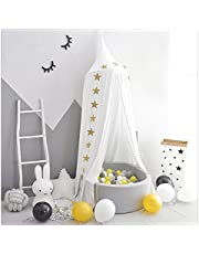 FLORICA Bed Canopy Mosquito Net Dome Princess Bed Canopy Kids Play Tent for Kids Baby Crib Cotton Height 94.9 inch/240cm