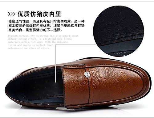 Mens Business Dress Formal Work Shoes Slip On Flat Faux Leather Casual Loafers 316hIUke83