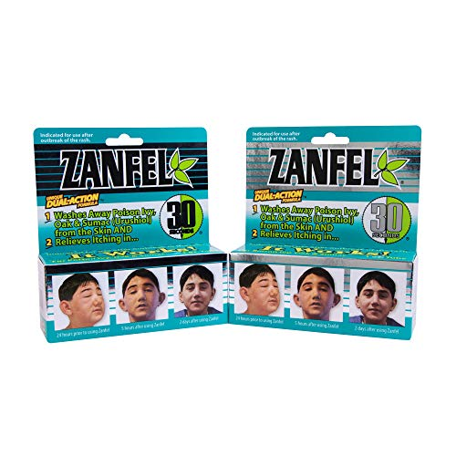 ZANFEL - Poison Ivy, Oak & Sumac Wash, 1 Oz - 2Pack