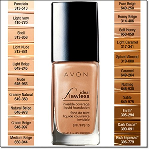 Avon Ideal Flawless Invisible Coverage Liquid Foundation SPF 15 Creamy Natural Z104
