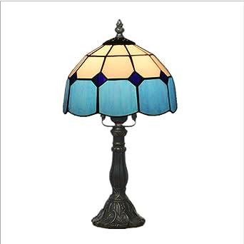 Tiffany lámpara de mesa dormitorio lámpara de noche sala de bodas ...