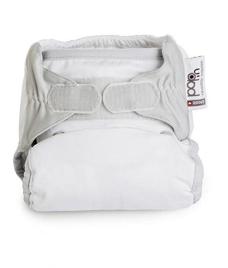 Close 1-MK-SNOW - Pañal tela, color blanco