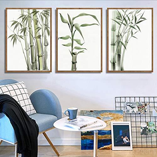 NDJKE Hoja de bambú Cartel decoración ilusoria Abstracta ...