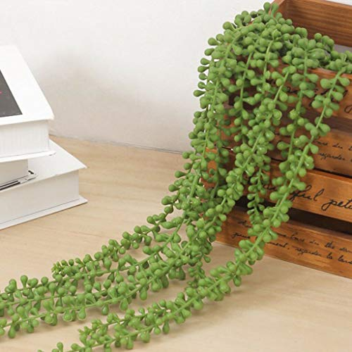 - BROSCO 10x Artificial Hanging String of Pearls Fake Succulent Plants Supplies Green