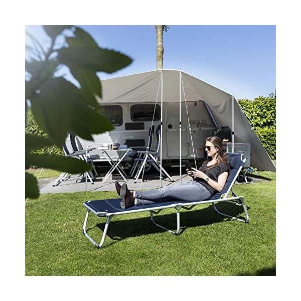 51yZG4LEPzL Campart BE-0637 Sonnenliege – 600D Polyesterbezug – faltbares Reisebett