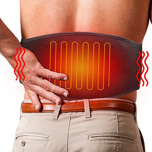 ARRIS Lower Back Heating Pad/Heating Waist Belt Wrap w/7.4V Rechargeable Battery Far Infrared Heat...