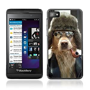 YOYOSHOP [Cool Dog, Pipe & Sunglasses] Blackberry Z10 Case by lolosakes
