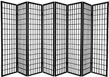 Perfect 8 Panel Room Divider Screen Black