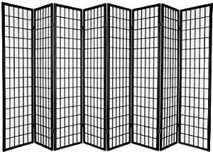 Amazon Com 8 Panel Room Divider Screen Black Furniture Decor