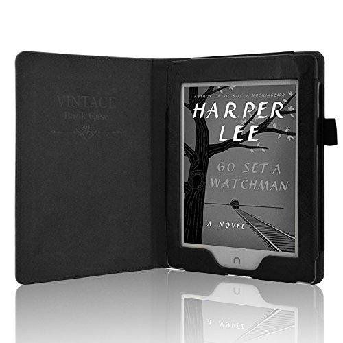 ACdream Nook GlowLight Plus 6inch Case[CAN NOT FIT Nook GLOWLIGHT 3 or 2019 New Nook Glowlight Plus 7.8 inch], Folio Premium PU Leather Cover Case for Barnes & Noble Nook GlowLight Plus, Black