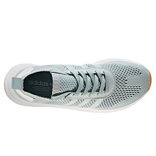 big sale 09cd4 cf55c Venta caliente 2018 Adidas Primeknit Flashback FLB. Blancas y Verdes.  Zapatillas Deportivas Running Para