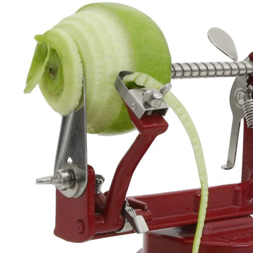 Johnny Apple Peeler with Suction Base VKP1010 by VICTORIO + (1) additional Coring &Slicing Blade VKP1010-2 + (2) additional Peeling Knifes VKP1010-1 by Victorio Kitchen Products (Image #6)