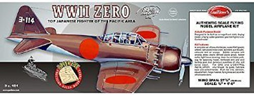 Mitsubishi Zero Fighter - Guillow's Mitsubishi Zero Authentic Scale Flying Airplane Model Kit (#404LC)