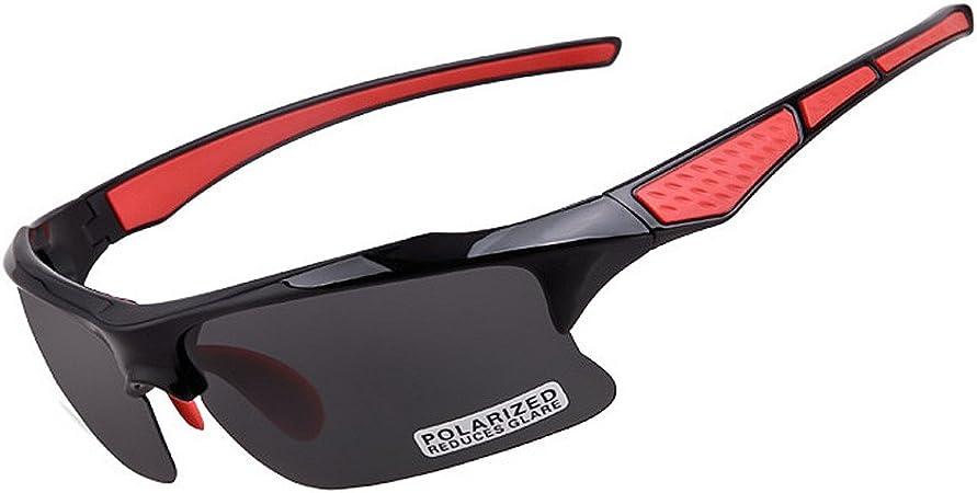 Zoueroih Gafas de Sol Deportivas para Ciclismo Gafas de Sol polarizadas para Hombres Conducción Deportiva Ciclismo clásico Correr Pesca Golf Marco irrompible (Color : Red): Amazon.es: Hogar