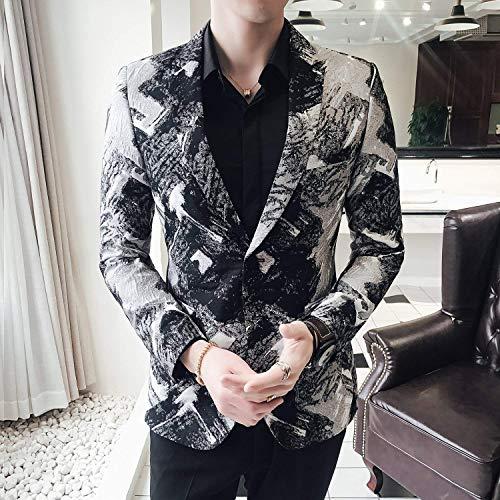 De Fit Costume Imprimé Essentiel Tuxedo Classique Mariée Pour Fête Slim Schwarz Blazer Homme Vestes wxYCRFxU