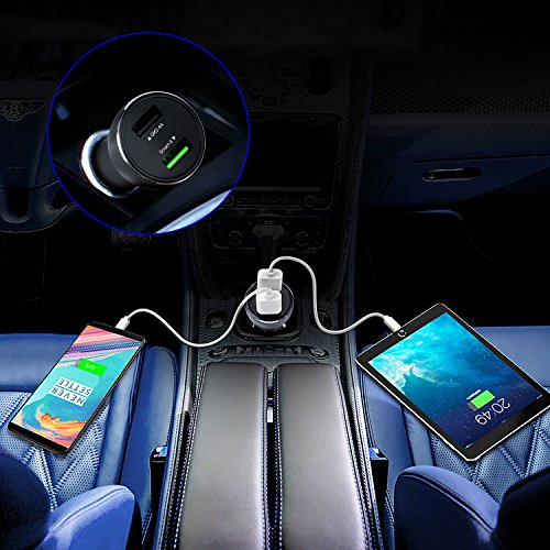 TINDUQIN Dash Car Charger Oneplus6T/6 Car Charger Oneplus5T/5 Car Charger  Oneplus3T/3 Another QK 5V2 4A USB for Compatible with Other All Type-C