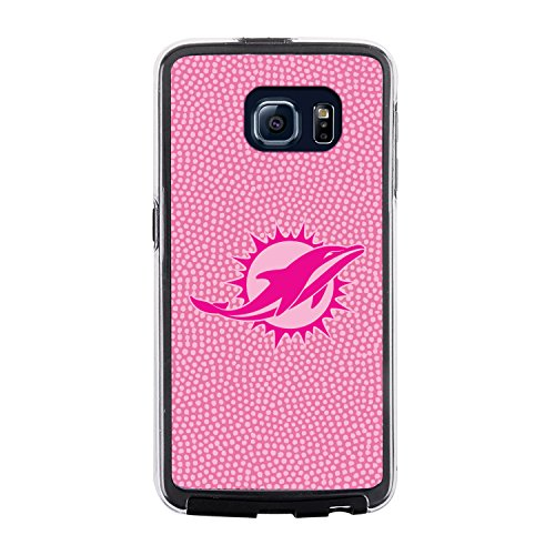 NFL Miami Dolphins Football Pebble Grain Feel No Wordmark Samsung Galaxy S6 Case, Pink by Game Wear, Inc.