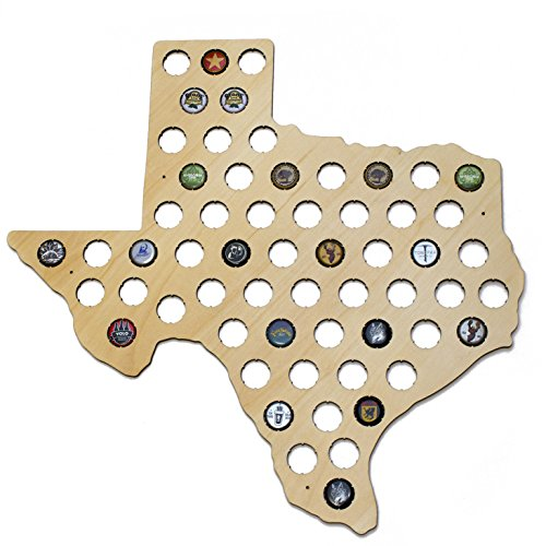 Texas Beer Cap Map - Holds Craft Beer Bottle Caps (Fun Places For Kids In Dallas Tx)