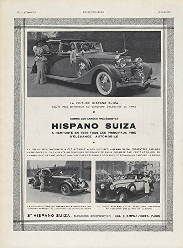 Grand Prix d'Honneur Concours d'Elegance Hispano Suiza ad 1937 ()