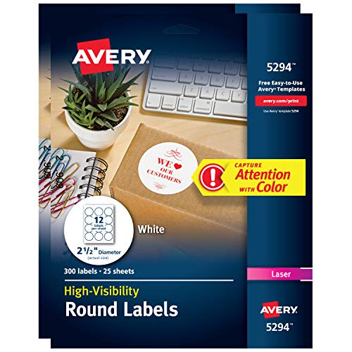 - Avery Print-to-The Edge High-Visibility Labels for Laser Printers, 2.5