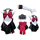 Sailor Moon sailormoon cosplay costume sailor Pluto trista with Glove and Tiara